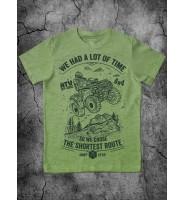 """Зеленая детская футболка """"Квадроцикл"""""""