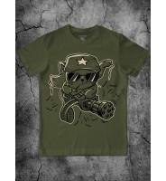 """Подростковая футболка """"Кот с пулеметом"""""""