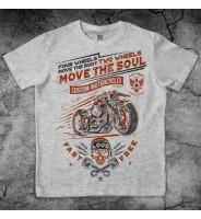 Серая футболка мотоциклетная