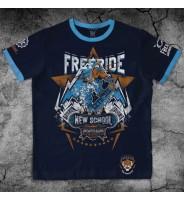 """Темно-синяя футболка """"Сноуборд"""""""