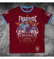 Бордовая футболка Сноубордическая