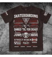 Коричневая футболка Скейтерская