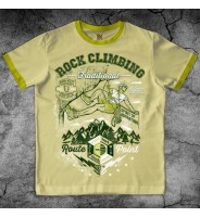 """Желтая футболка """"Скалолаз"""""""