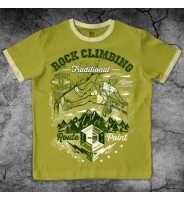 Зеленая футболка со скалолазом