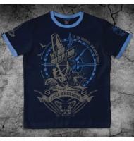 """Темно-синяя футболка """"Виндсерфинг"""""""