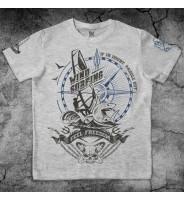 Серая футболка с дизайном Виндсерфинг