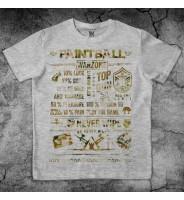 Серая футболка Пейнтбольная