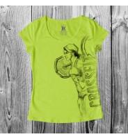 "Салатовая футболка ""Crossfit Girl"""
