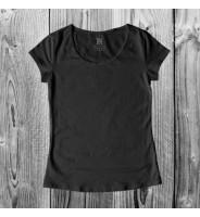Черная женская футболка