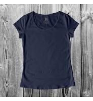 Темно-синяя женская футболка
