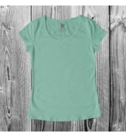 Мятная женская футболка