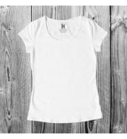 Белая женская футболка
