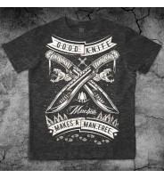 Темно-серая футболка с мачете