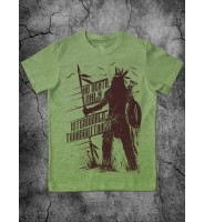 Зеленая футболка с индейцем