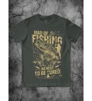 "Оливковая футболка ""Рыбалка"""