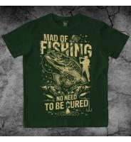 """Зеленая футболка """"Рыбалка"""""""