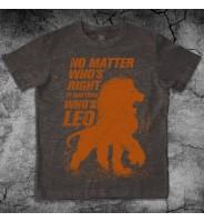 Коричневая футболка со львом
