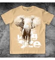 """Бежевая футболка """"Слон"""""""