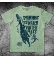 """Зеленая футболка """"Плавание"""""""