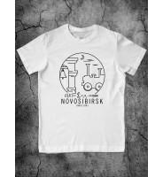 """Белая футболка """"Новосибирск"""""""