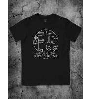 "Черная футболка ""Новосибирск"""
