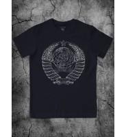 Темно-синяя футболка с гербом СССР