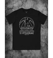 """Черная футболка """"Санкт-Петербург"""""""