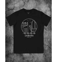 """Черная футболка """"Самара"""""""