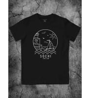 "Черная футболка ""Сочи"""