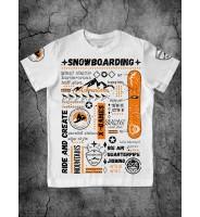 Футболка со сноубордом